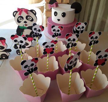 Kit Festa Panda - Sem faixa etaria - Não informada