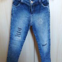 Calça jeans bordada - 6 anos - Não informada