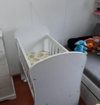 Mini berço com colchão - Sem faixa etaria - Peroba