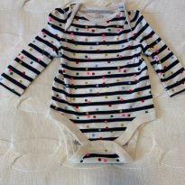 Body de listras e bolinhas - 3 a 6 meses - Baby Gap