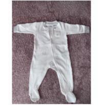Macacão de zíper branco ursinho - 6 meses - Carter`s
