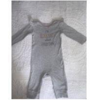Macacão cinza com babadinhos ombro - 9 meses - Carter`s