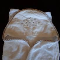 Toalha forrada com fralda e capuz -  - Classic for Baby