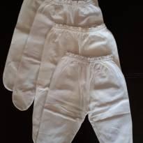 Kit 4 calças brancas de algodão - 3 meses - Não informada