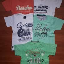 5 camisetas de manga curta - 4 anos - Não informada