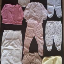 Kit de menina com 13 peças - 0 a 3 meses - Não informada