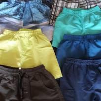 Kit 6 shorts e 3 bermudas - 4 anos - Hering e Não informada