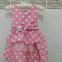 Vestido Rosa com Bolas - 1 ano - Não informada
