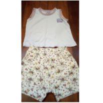 Conjunto Short Flores e Camiseta - 1 ano - Be Little