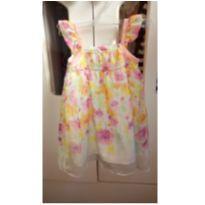 Vestido em Seda estampa Flores - 6 meses - Milon