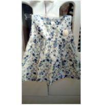 Vestido azul com flores - 6 a 9 meses - ZigMundi