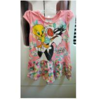 Vestido Frajola e Piu Piu - Looney Tunes - 1 ano - Marlan