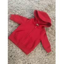 Casaco de moletom vermelho - 6 a 9 meses - Basic + Baby