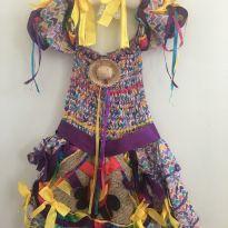 Vestido festa junina - 2 anos - Não informada