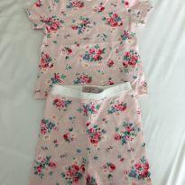 Pijama flores - 3 a 6 meses - Cath Kids