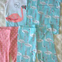 Pijama 4 peças Flamingo - 18 a 24 meses - Carter`s