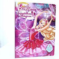 Livro quebra cabeças Barbie e as Sapatilhas Mágicas - Sem faixa etaria - Barbie
