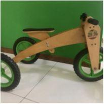 Bicicleta  de Equilíbrio Woodbike 3 Em 1 - Triciclo - Verde -  - wood bike