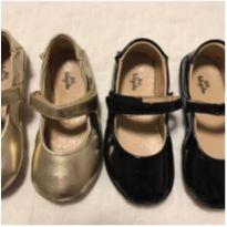 Sapatinhos de menina (preto e dourado) - 25 - Luluzinha