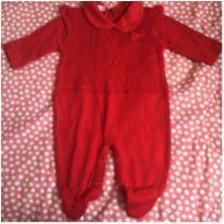 Macacão Vermelho - Saída de maternidade - Recém Nascido - Alô bebê