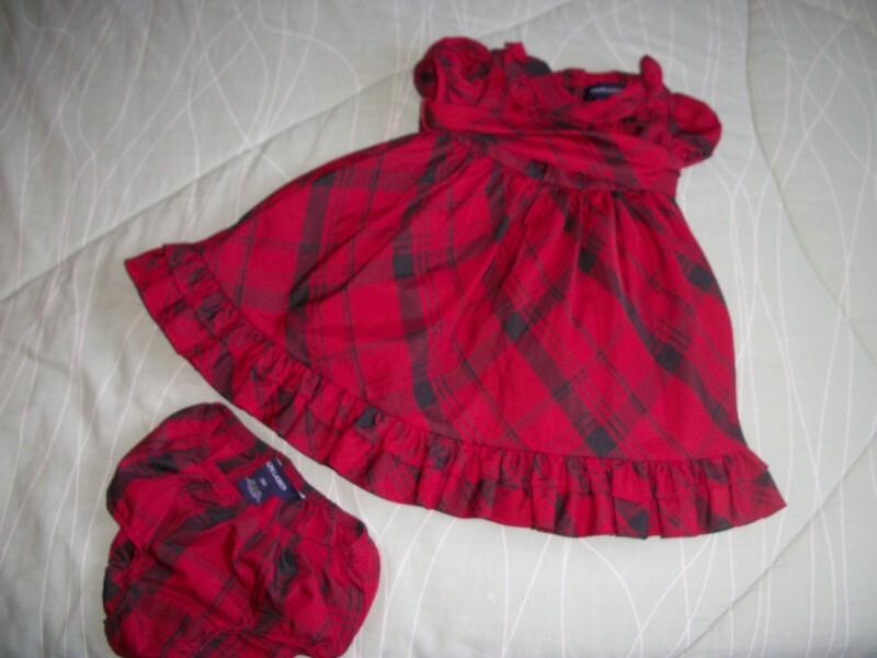 Vestido vermelho xadrez - Ralph Lauren 9 meses no Ficou Pequeno ... 901805aa581