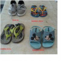 Lote de calçados infantil - 24 - N/C