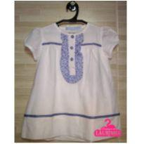 Vestido branco com floral azul VIC - 2 anos - Very Important Children