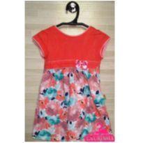 Vestido dia a dia coral floral - 2 anos - Não informada