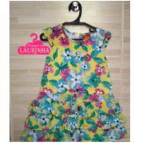 Vestido floral Kyly com babadinhos - 2 anos - Kyly