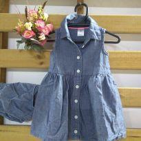 Vestido jeans Carter`s - 6 meses - Carter`s