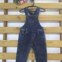 Macacão jeans escuro - 1 ano - Não informada