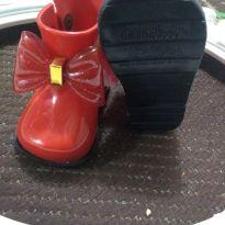 Botinha Mini Melissa vermelha laço - 17 - Melissa