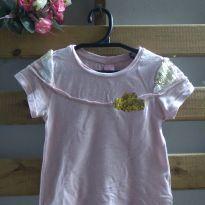 Camiseta Lilica Ripilica com manga de paetê - 2 anos - Lilica Ripilica