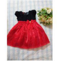 Vestido de festa Gira Baby vermelho e preto