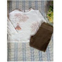 Conjunto bata e legging Zara Baby balanço - 2 anos - Zara Baby