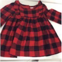 Vestido Xadrez Maravilhoso - 9 a 12 meses - Baby Gap