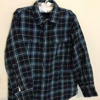 Camisa de Flanela Acolchoada xadrez GAP KID`s - 6 anos - GAP