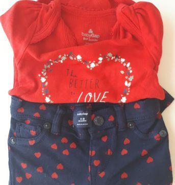 Conjunto Body e calça GAP - 0 a 3 meses - Baby Gap