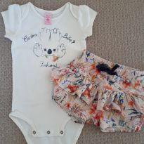 Conjunto body e short saia Lilica Ripilica - 9 a 12 meses - Lilica Ripilica
