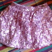 Saia rosa de paete - 2 anos - Colorittá