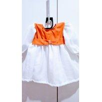 NOVO - Vestido Luxo de Festa Tam P (3 a 6 meses).!! - 3 a 6 meses - Confecção Exclusiva