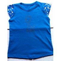 NOVA-  Camiseta azul tam 3 anos!! - 3 anos - Confecçoes Fenix