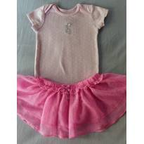 Conjunto Body CARTER`S + Saia Tutu Disney Princess! - 1 ano - Carter`s