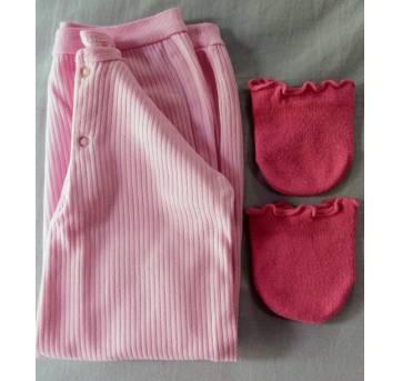 Camisola/Pijama Rosa Tam 0 a 6 meses da Gerber!! - 6 meses - Gerber