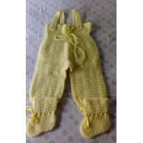 Conjunto Inverno Macacão + Meias de Lãbem quentinhos!! - 9 a 12 meses - Feito à mão