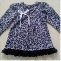 Vestido de Inverno Tam M (9 a 12 meses) Kiki Xodó! - 9 a 12 meses - Kiki Xodó