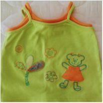 Camiseta Regata tam 6 a 9 meses da By Tilly!! - 6 a 9 meses - Tilly Baby
