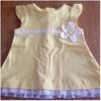 Vestido Amarelo tam 6 meses da CHICCO! - 6 meses - Chicco