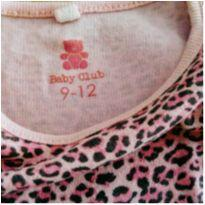 Body Tigresa Tam 9 a 12 meses BABY CLUB!!