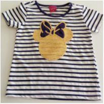 Camiseta Listrada Minnie tam 2 anos DISNEY - 2 anos - Disney
